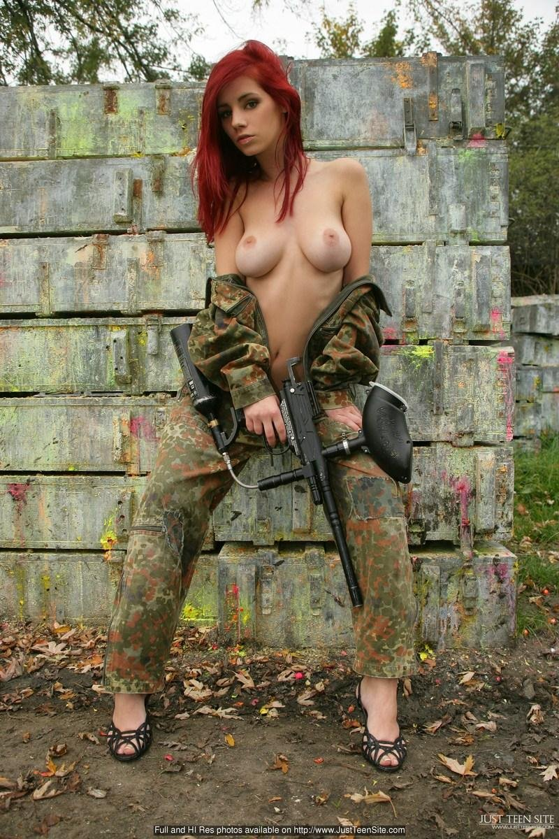 Ariel as a Paintball player