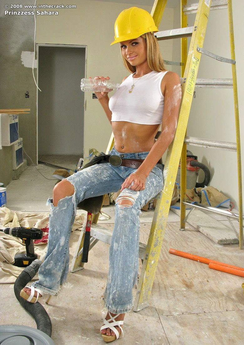 prinzzess sahara   sexy construction worker