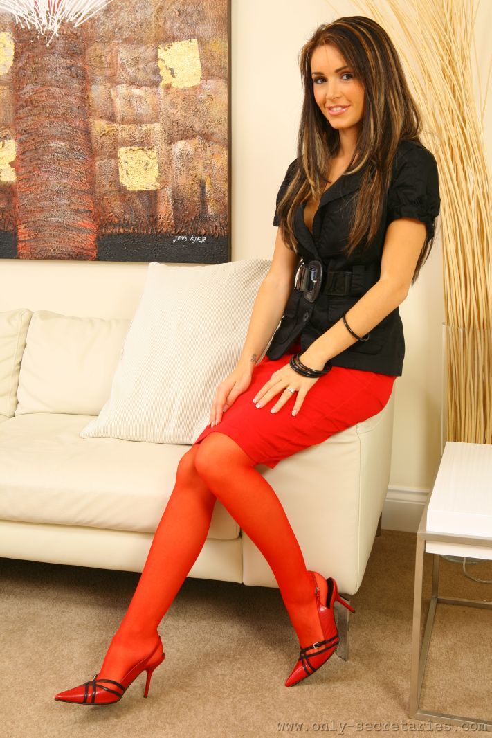 Sexy red stockings
