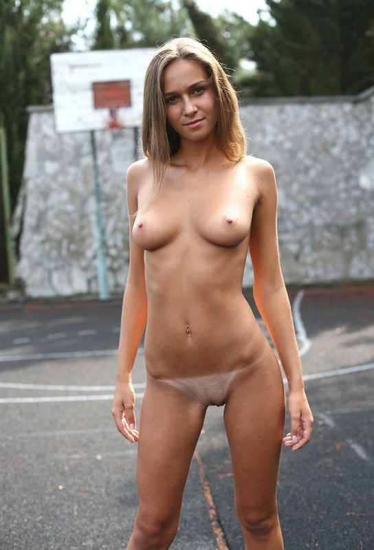 Girl on school playground