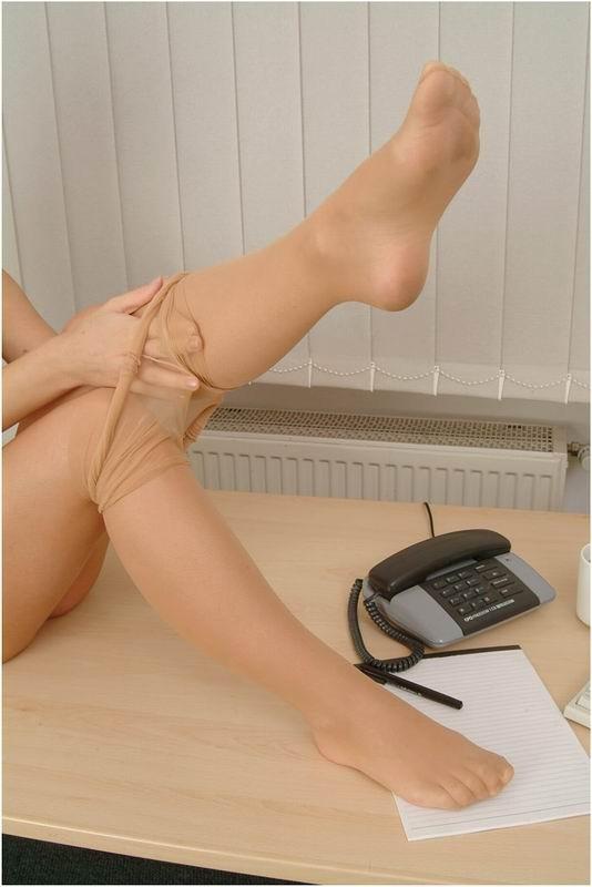 Secretary nylon pantyhose