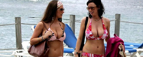 Sophie Howard and Lucy Pinder