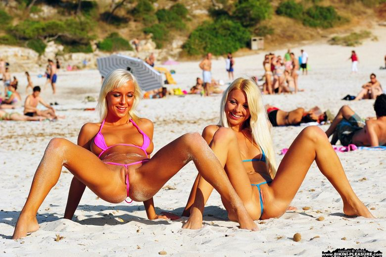 Two blond in bikini