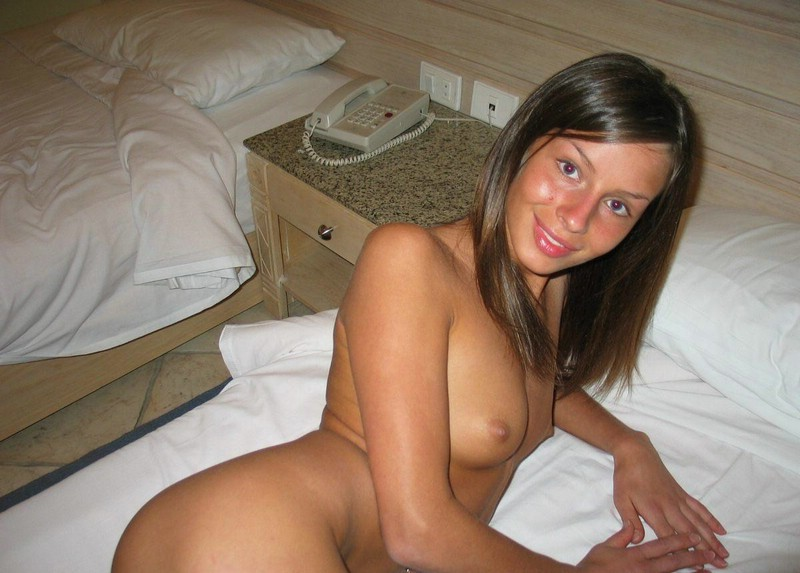 Vika in hotel room