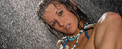 Wet photo session