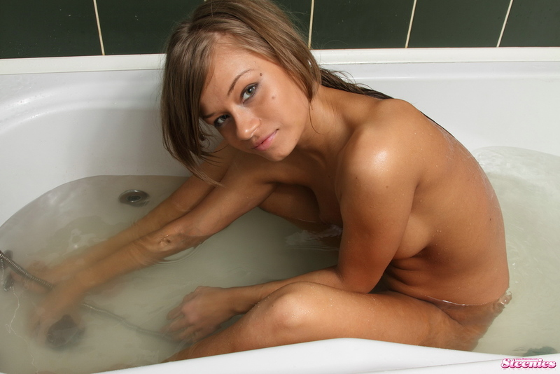 Sweet young girl in bath