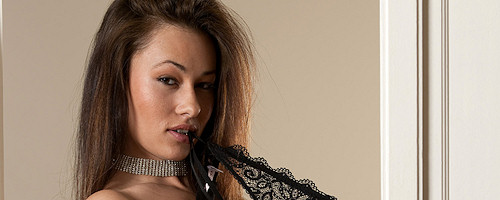 Adrean in black lingerie and stockings