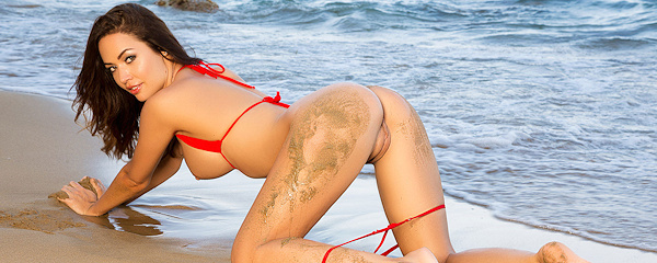 Adrienn Levai – Micro red bikini