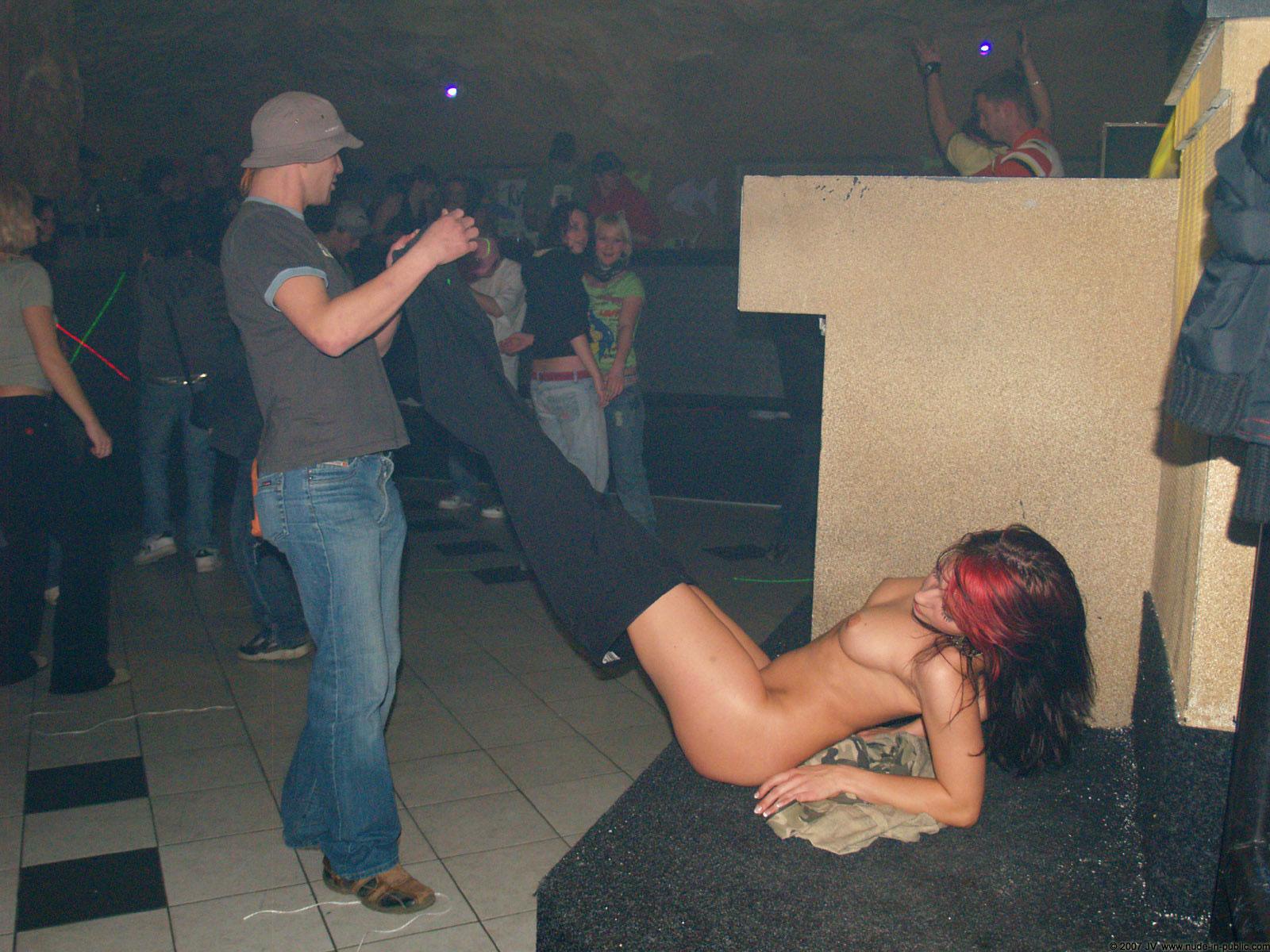Alene club party nude in public 01 RedBust