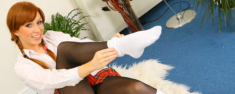 Alex Sim-Wise – Redhead schoolgirl with pigtails