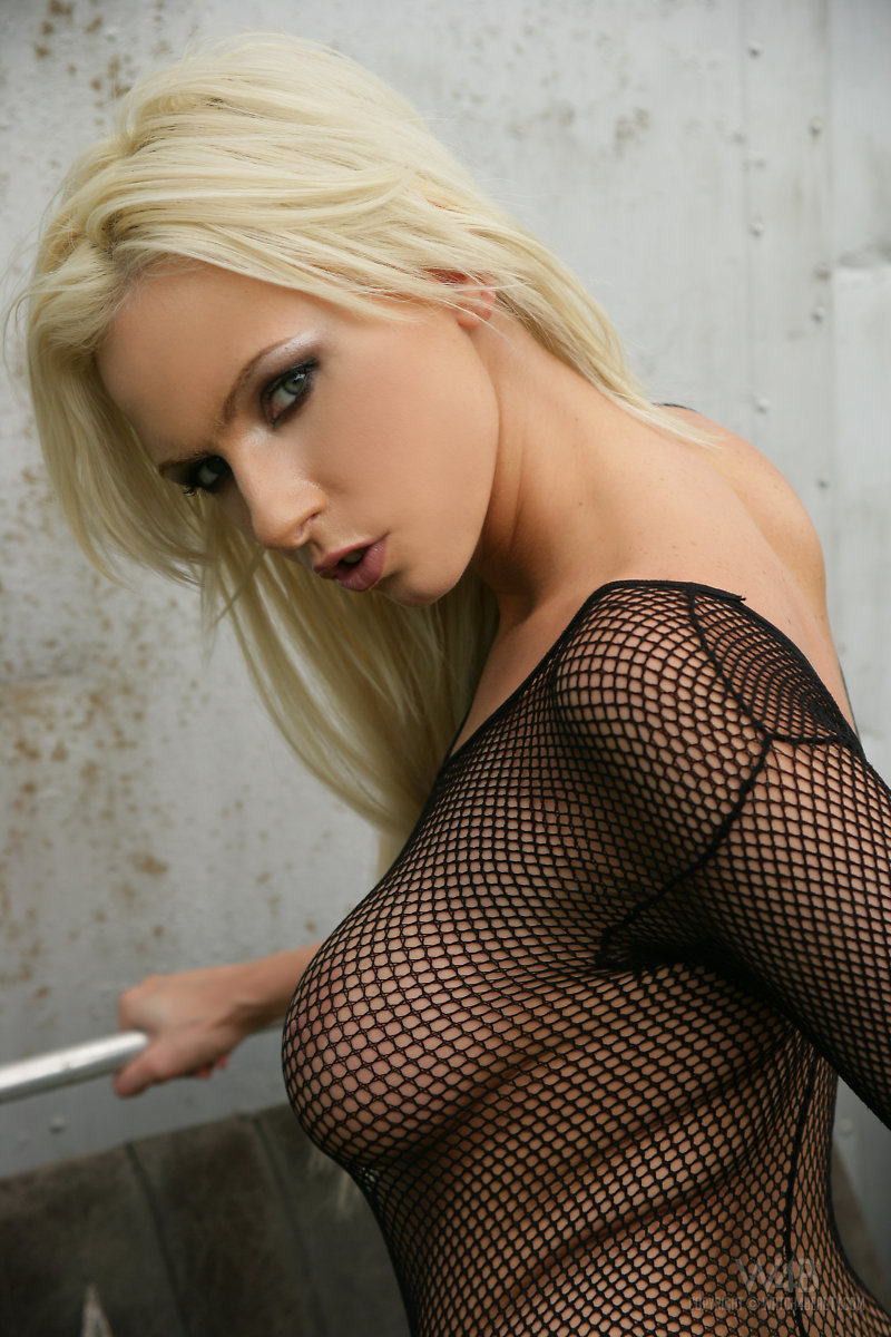 Alexis In Fishnet Bodystocking - Redbust-9794