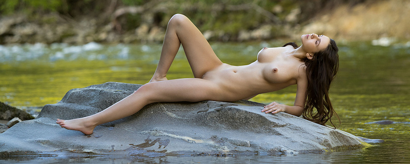 Alisa Amore by the river