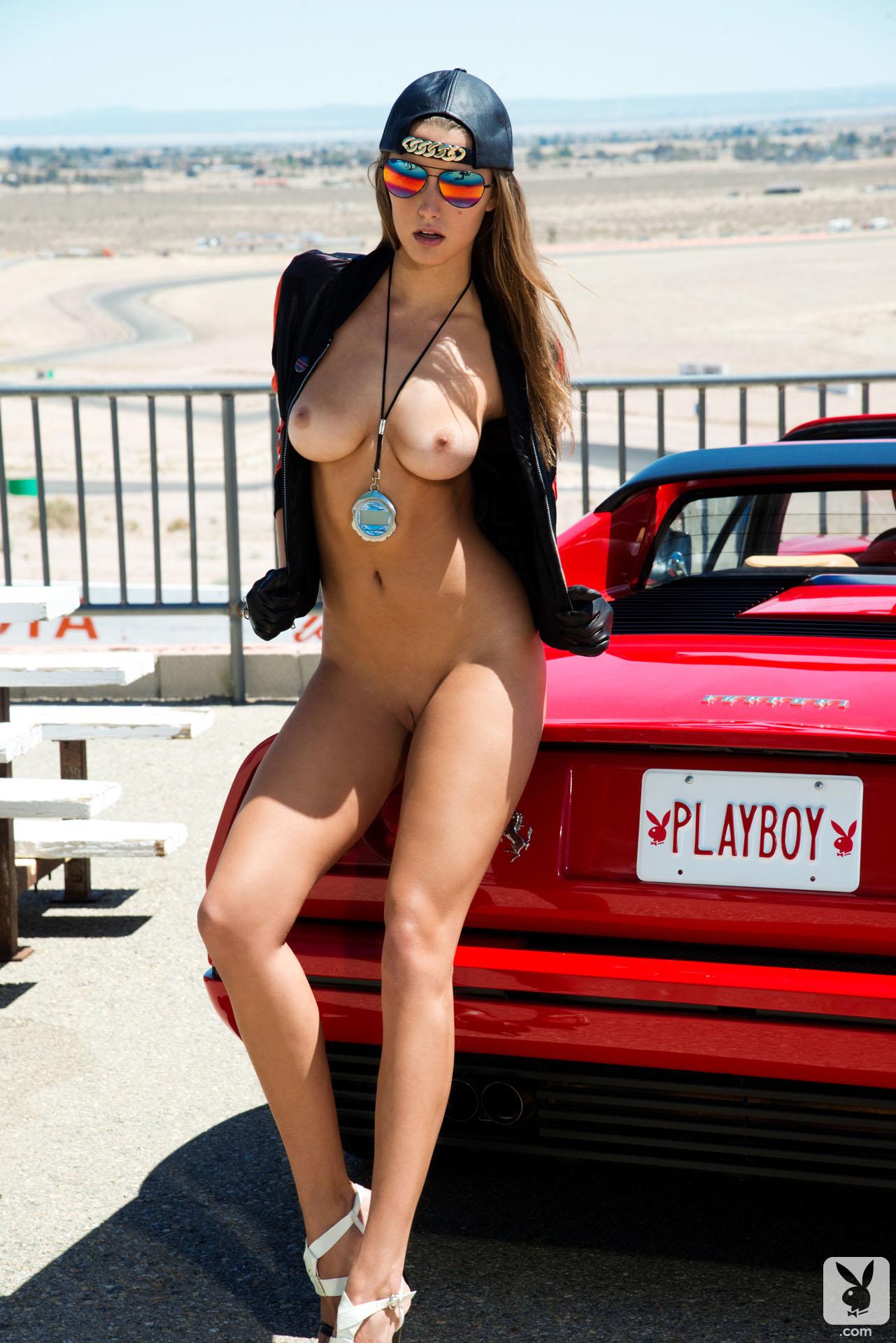 Alyssa Arce Nude Pics alyssa arce nude ferrari 328 playboy 04 redbust