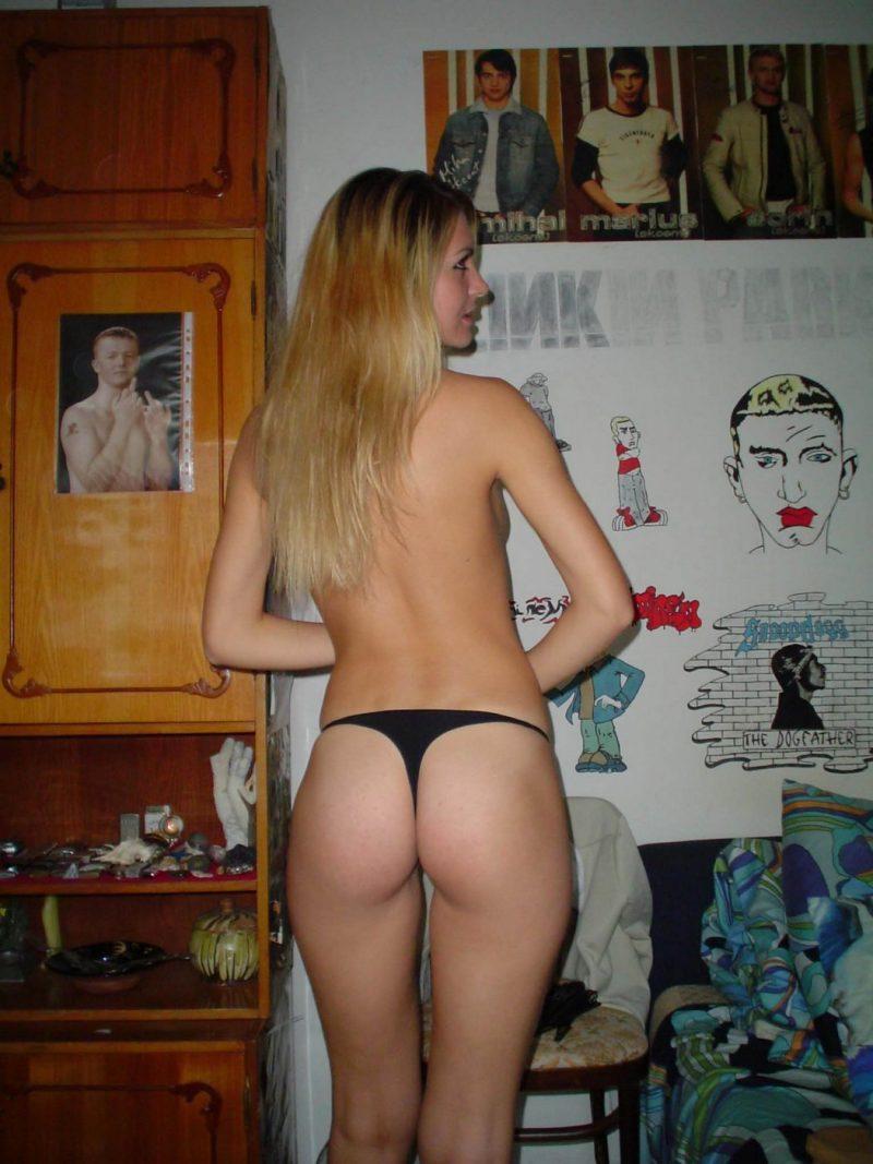 Amateur Blonde In Pink High Heels - Redbust-6040