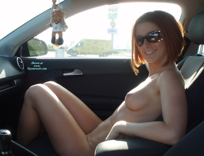 Candid nude in car, blonde shemales video