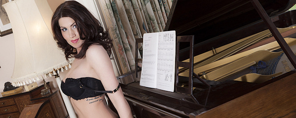 Amber Price by the piano