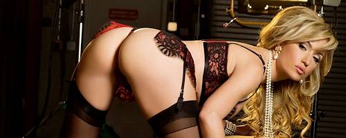 Angela Sommers in stockings