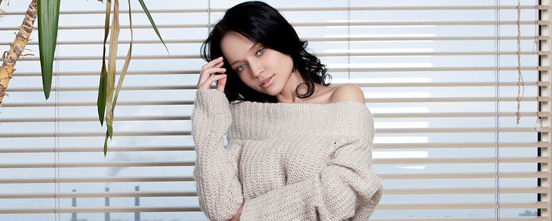Angelina Petrova – Sweater & panties