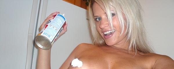 Ann Angel and whipped cream