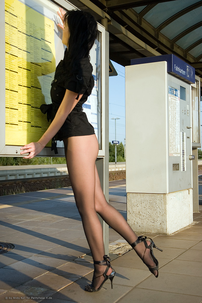 Anni at the railway station - RedBust