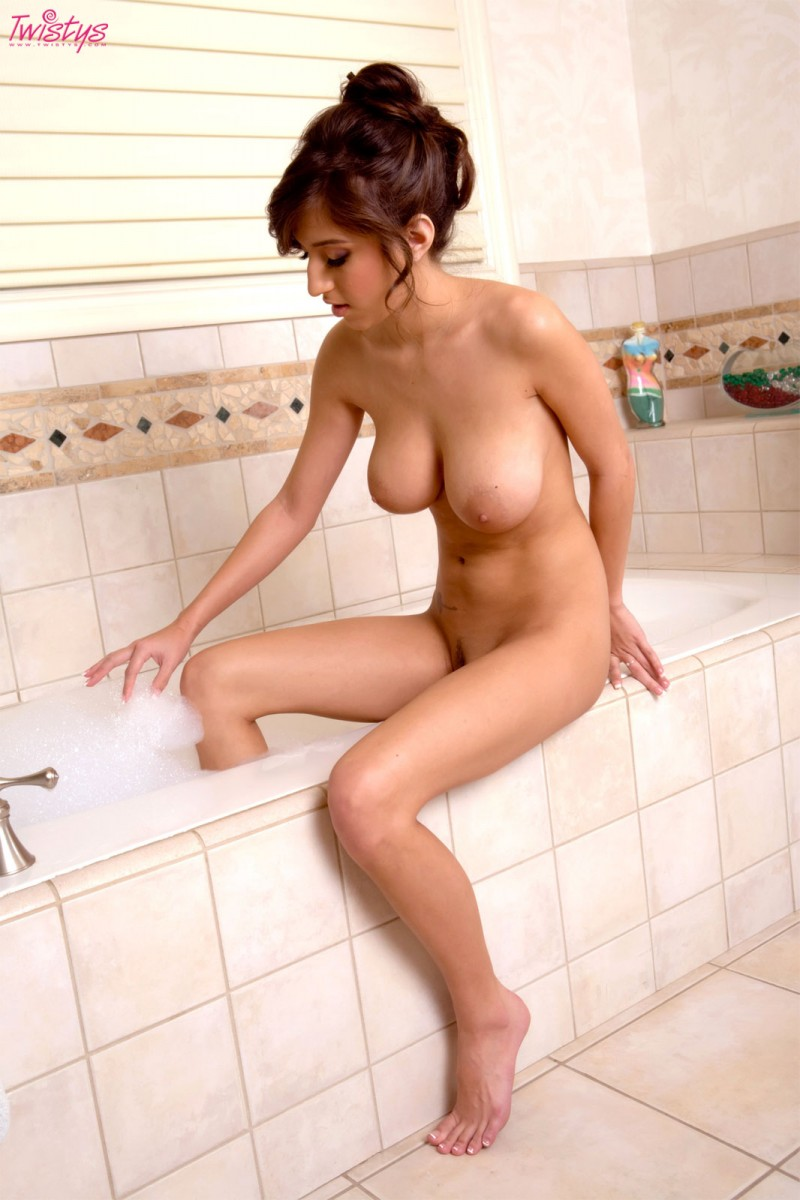 black girl naked in bathtub