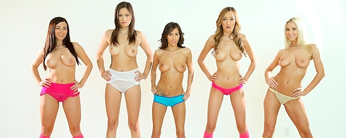 April O'neil, Nina James, Sammie Rhodes, Taylor Vixen & Victoria Rae