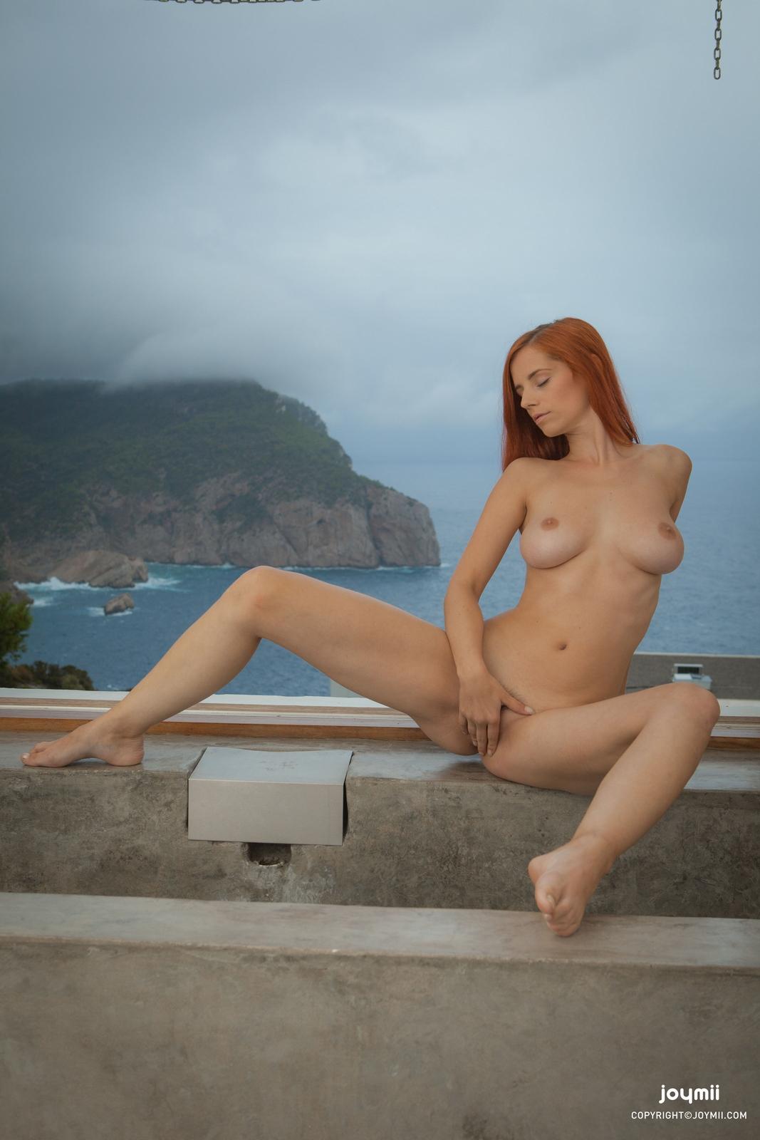 ariel-redhead-bathroom-naked-boobs-joymii-11
