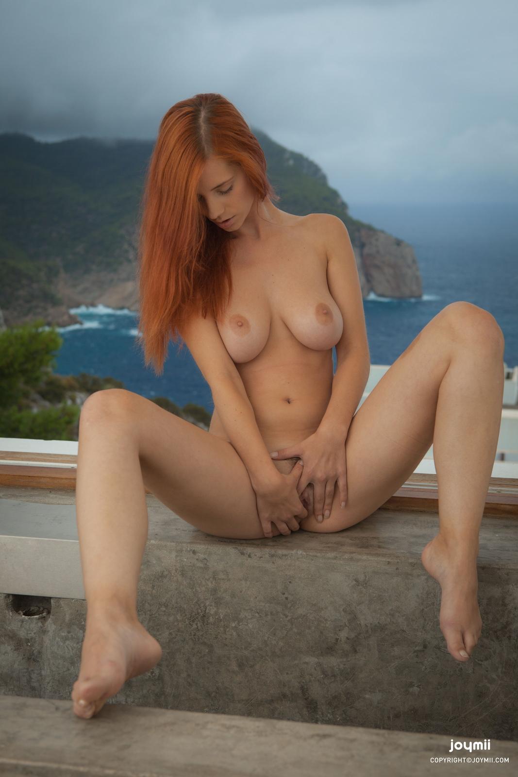 ariel-redhead-bathroom-naked-boobs-joymii-24