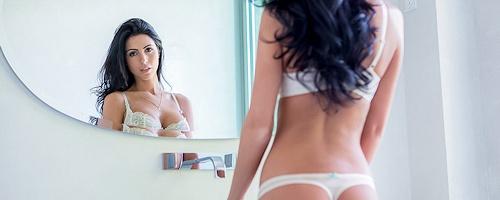 Ashlee Lynn in white lingerie