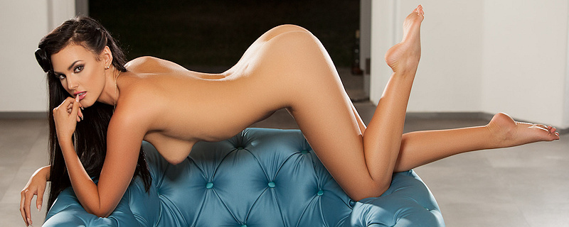 Ashleigh Hannah strip on the armchair