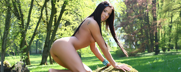 Ashley Bulgari in the park