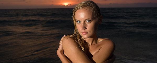 Sandra at the seaside