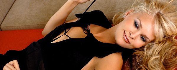 Athena Lundberg in sexy black nighty