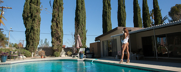 August Ames – Poolside photoshoot