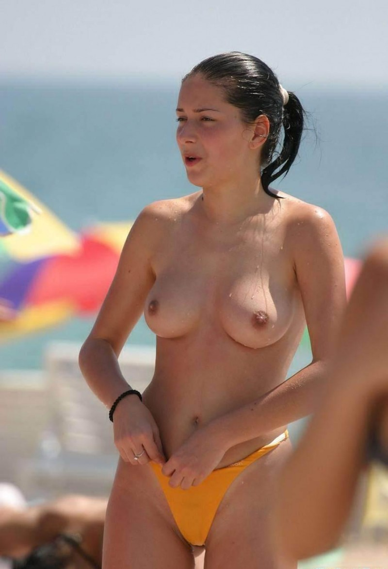 Assured, Picturea of topless women on beach think