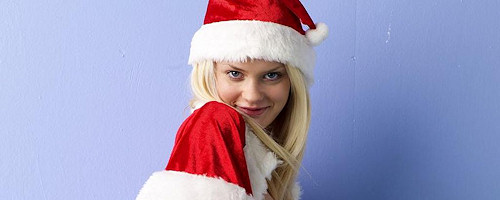 Bere blond Xmas babe