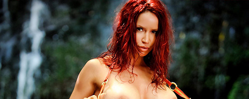 Bianca Beauchamp by the waterfall