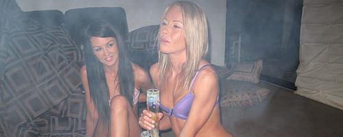 Bong smoking lesbians