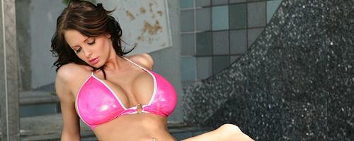 Brandy Robbins in pink bikini