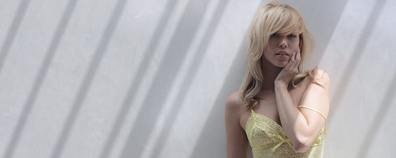 Brea Bennett in yellow dress