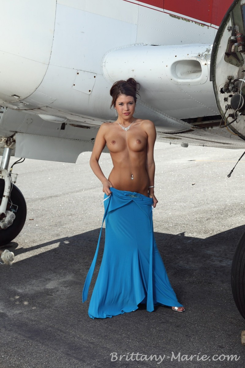 Brittany Marie  Nude On Airfield - Redbust-7506