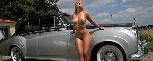 Busty blond and Rolls-Royce
