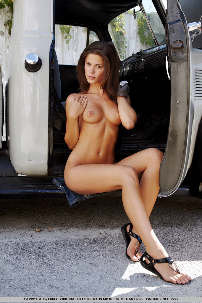 nude model with trucks