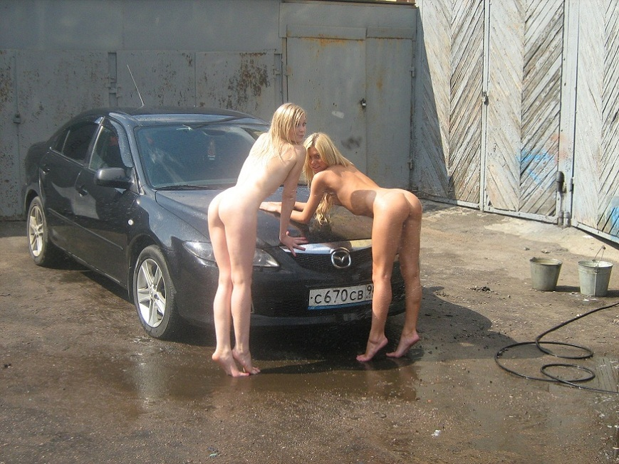 голышом на автомойке фото времени
