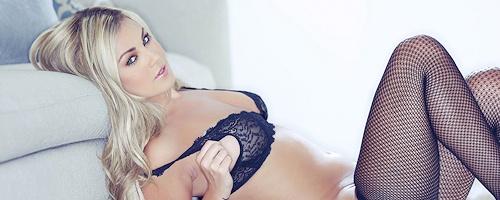 Ciara Price in fishnet pantyhose