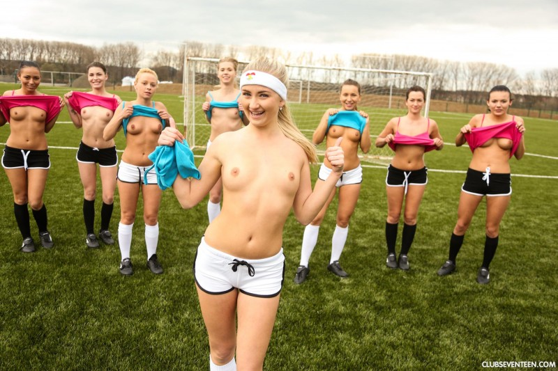young soccer girls naked