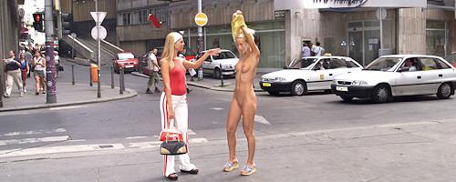 Cynthia nude in public