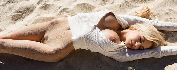 Dani Mathers at the seaside