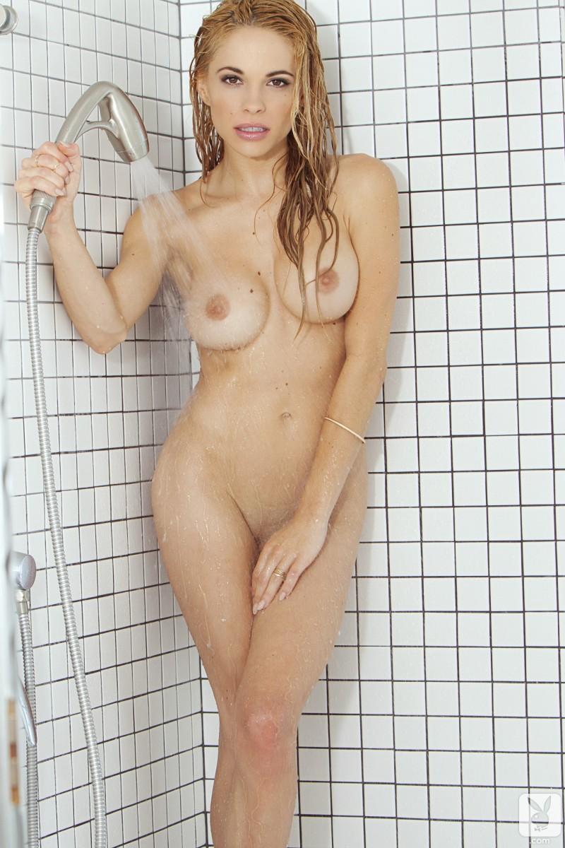 playmate naked shower sexy