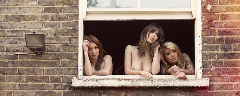 Danielle Sharp, Bryony Morgana & Gabriella for Front Magazine